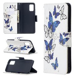 Flying Butterflies Leather Wallet Case for Samsung Galaxy A02s