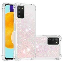 Dynamic Liquid Glitter Sand Quicksand TPU Case for Samsung Galaxy A03s - Silver Powder Star
