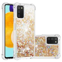 Dynamic Liquid Glitter Sand Quicksand TPU Case for Samsung Galaxy A03s - Rose Gold Love Heart