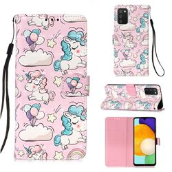 Angel Pony 3D Painted Leather Wallet Case for Samsung Galaxy A03s