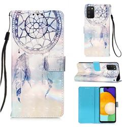 Fantasy Campanula 3D Painted Leather Wallet Case for Samsung Galaxy A03s