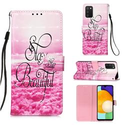 Beautiful 3D Painted Leather Wallet Case for Samsung Galaxy A03s