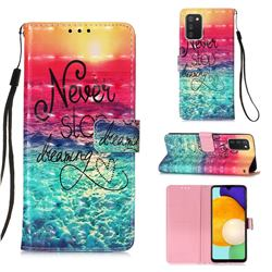 Colorful Dream Catcher 3D Painted Leather Wallet Case for Samsung Galaxy A03s