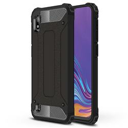 King Kong Armor Premium Shockproof Dual Layer Rugged Hard Cover for Samsung Galaxy A10 - Black Gold