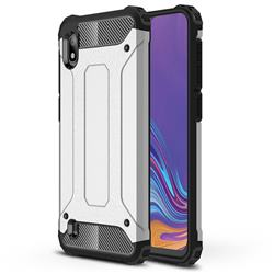 King Kong Armor Premium Shockproof Dual Layer Rugged Hard Cover for Samsung Galaxy A10 - White