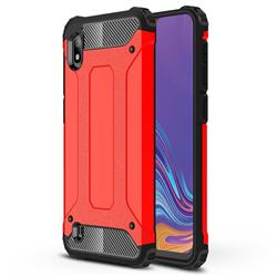 King Kong Armor Premium Shockproof Dual Layer Rugged Hard Cover for Samsung Galaxy A10 - Big Red