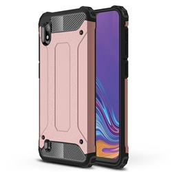 King Kong Armor Premium Shockproof Dual Layer Rugged Hard Cover for Samsung Galaxy A10 - Rose Gold