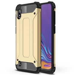 King Kong Armor Premium Shockproof Dual Layer Rugged Hard Cover for Samsung Galaxy A10 - Champagne Gold