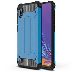 King Kong Armor Premium Shockproof Dual Layer Rugged Hard Cover for Samsung Galaxy A10 - Sky Blue