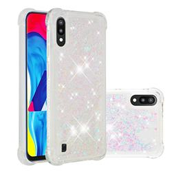 Dynamic Liquid Glitter Sand Quicksand Star TPU Case for Samsung Galaxy A10 - Pink