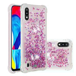 Dynamic Liquid Glitter Sand Quicksand Star TPU Case for Samsung Galaxy A10 - Rose