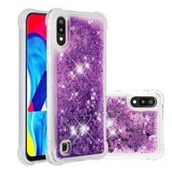 Dynamic Liquid Glitter Sand Quicksand Star TPU Case for Samsung Galaxy A10 - Purple