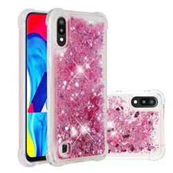 Dynamic Liquid Glitter Sand Quicksand Star TPU Case for Samsung Galaxy A10 - Diamond Rose