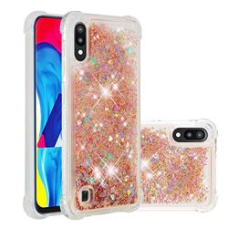 Dynamic Liquid Glitter Sand Quicksand Star TPU Case for Samsung Galaxy A10 - Diamond Gold