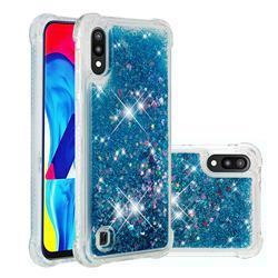Dynamic Liquid Glitter Sand Quicksand TPU Case for Samsung Galaxy A10 - Blue Love Heart