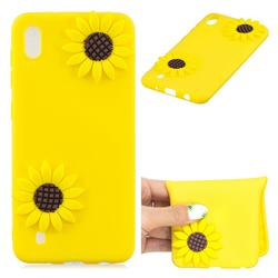 Yellow Sunflower Soft 3D Silicone Case for Samsung Galaxy A10