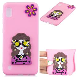 Violet Girl Soft 3D Silicone Case for Samsung Galaxy A10