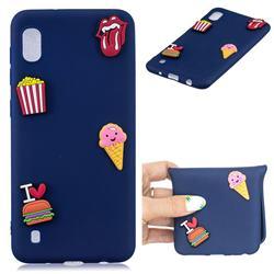 I Love Hamburger Soft 3D Silicone Case for Samsung Galaxy A10
