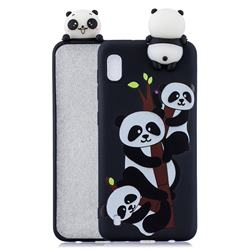 Ascended Panda Soft 3D Climbing Doll Soft Case for Samsung Galaxy A10