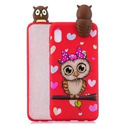 Bow Owl Soft 3D Climbing Doll Soft Case for Samsung Galaxy A10