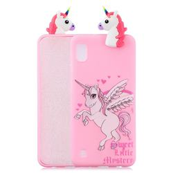 Wings Unicorn Soft 3D Climbing Doll Soft Case for Samsung Galaxy A10