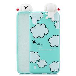 Cute Cloud Girl Soft 3D Climbing Doll Soft Case for Samsung Galaxy A10