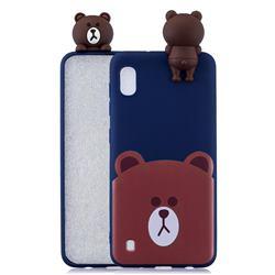 Cute Bear Soft 3D Climbing Doll Soft Case for Samsung Galaxy A10