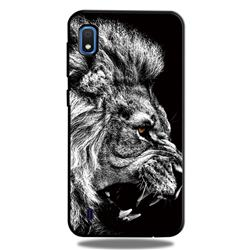 Lion 3D Embossed Relief Black TPU Cell Phone Back Cover for Samsung Galaxy A10