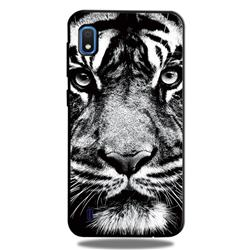 White Tiger 3D Embossed Relief Black TPU Cell Phone Back Cover for Samsung Galaxy A10