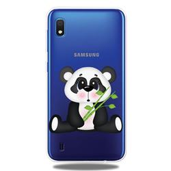 Bamboo Panda Clear Varnish Soft Phone Back Cover for Samsung Galaxy A10
