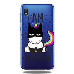 Batman Clear Varnish Soft Phone Back Cover for Samsung Galaxy A10