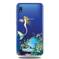Mermaid Clear Varnish Soft Phone Back Cover for Samsung Galaxy A10