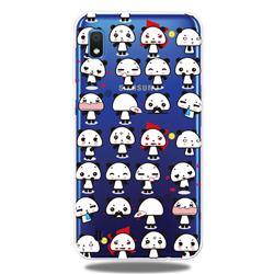 Mini Panda Clear Varnish Soft Phone Back Cover for Samsung Galaxy A10