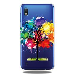 Oil Painting Tree Clear Varnish Soft Phone Back Cover for Samsung Galaxy A10