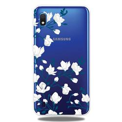 Magnolia Flower Clear Varnish Soft Phone Back Cover for Samsung Galaxy A10