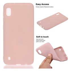 Soft Matte Silicone Phone Cover for Samsung Galaxy A10 - Lotus Color