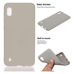 Soft Matte Silicone Phone Cover for Samsung Galaxy A10 - Gray