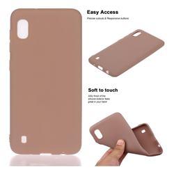 Soft Matte Silicone Phone Cover for Samsung Galaxy A10 - Khaki