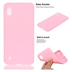 Soft Matte Silicone Phone Cover for Samsung Galaxy A10 - Rose Red