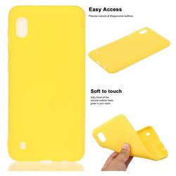 Soft Matte Silicone Phone Cover for Samsung Galaxy A10 - Yellow