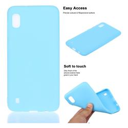 Soft Matte Silicone Phone Cover for Samsung Galaxy A10 - Sky Blue