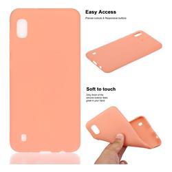 Soft Matte Silicone Phone Cover for Samsung Galaxy A10 - Coral Orange