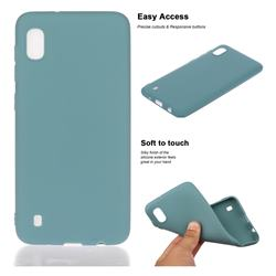 Soft Matte Silicone Phone Cover for Samsung Galaxy A10 - Lake Blue