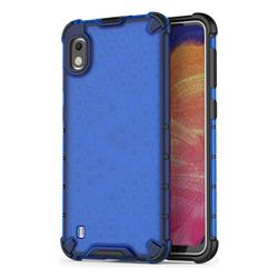Honeycomb TPU + PC Hybrid Armor Shockproof Case Cover for Samsung Galaxy A10 - Blue