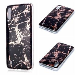 Black Galvanized Rose Gold Marble Phone Back Cover for Samsung Galaxy A10
