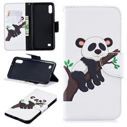 Tree Panda Leather Wallet Case for Samsung Galaxy A10