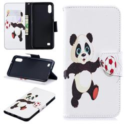 Football Panda Leather Wallet Case for Samsung Galaxy A10
