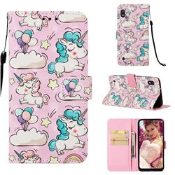 Angel Pony 3D Painted Leather Wallet Case for Samsung Galaxy A10