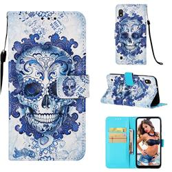 Cloud Kito 3D Painted Leather Wallet Case for Samsung Galaxy A10