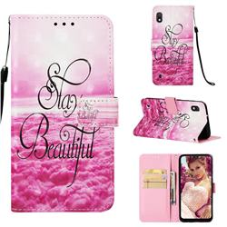 Beautiful 3D Painted Leather Wallet Case for Samsung Galaxy A10